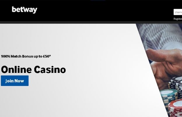 sports and casino games Betway