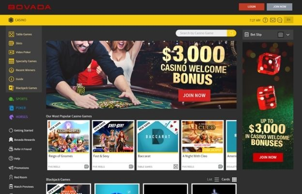sports and casino games Bovada